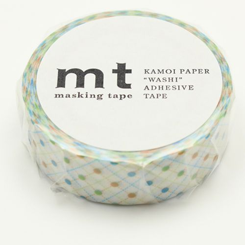 MT masking tape hasen dot green