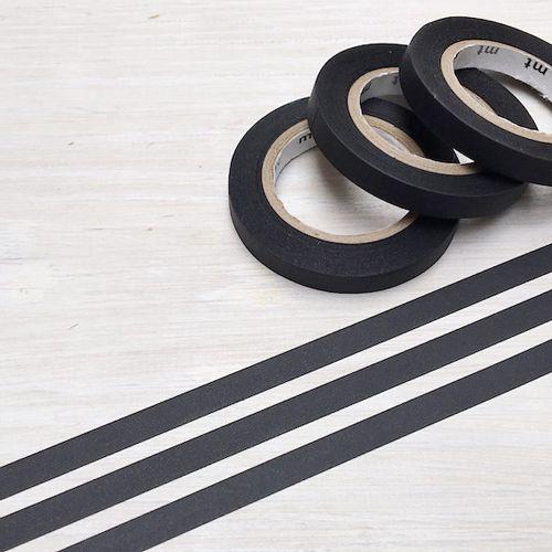 MT masking tape slim set matte black 6 mm