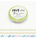 MT masking tape slim set pastel 3 mm