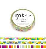 MT masking tape slim set pop 3 mm