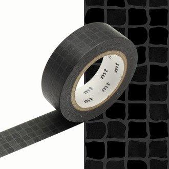 MT masking tape wobble tile black