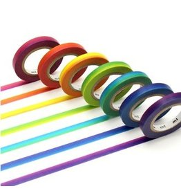 MT  MT washi tape set slim rainbow