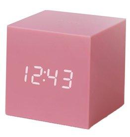 Ging-ko Click Clock cube gravity pink