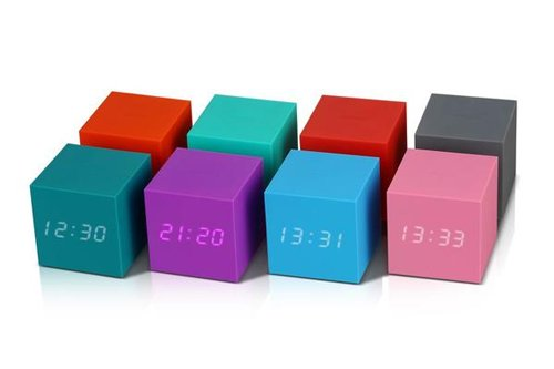 Click Clock cube gravity green