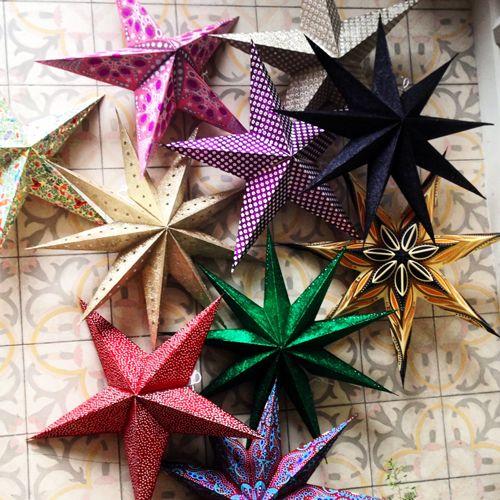 Kerstster pattern gold