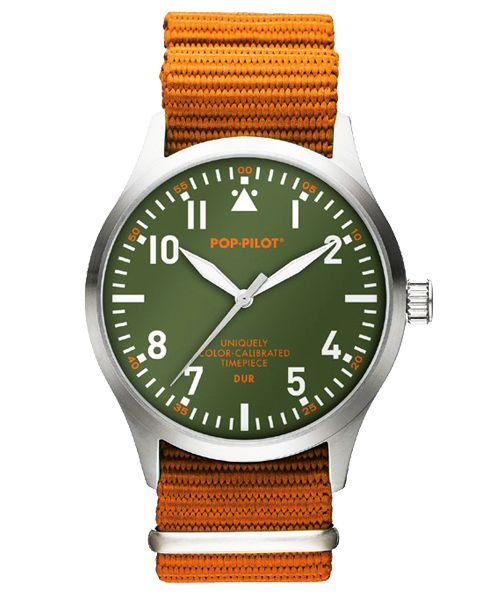 Horloge Pop Pilot jungle orange