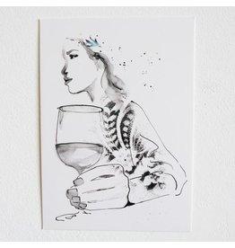 Tessa M. de Graaf Kunstkaart Leading lady