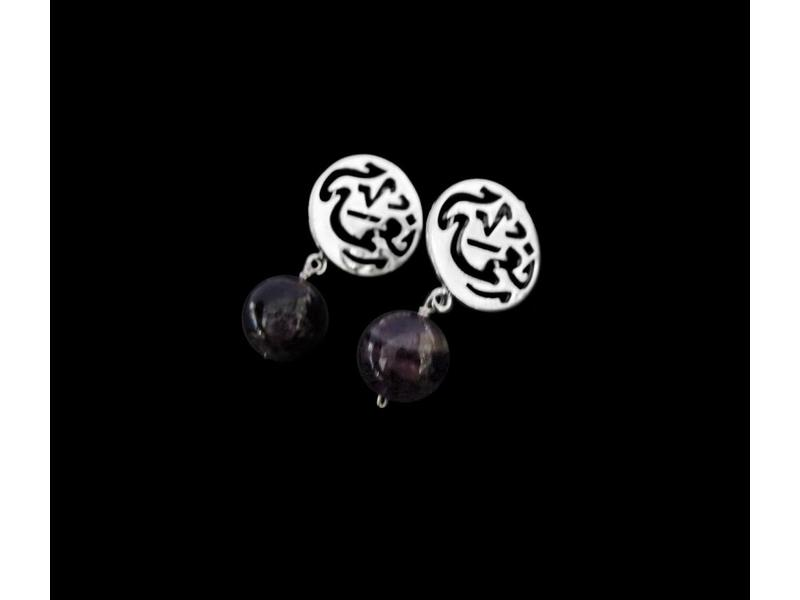 NIMAH CLIP ON EARRINGS WITH STONE DROP
