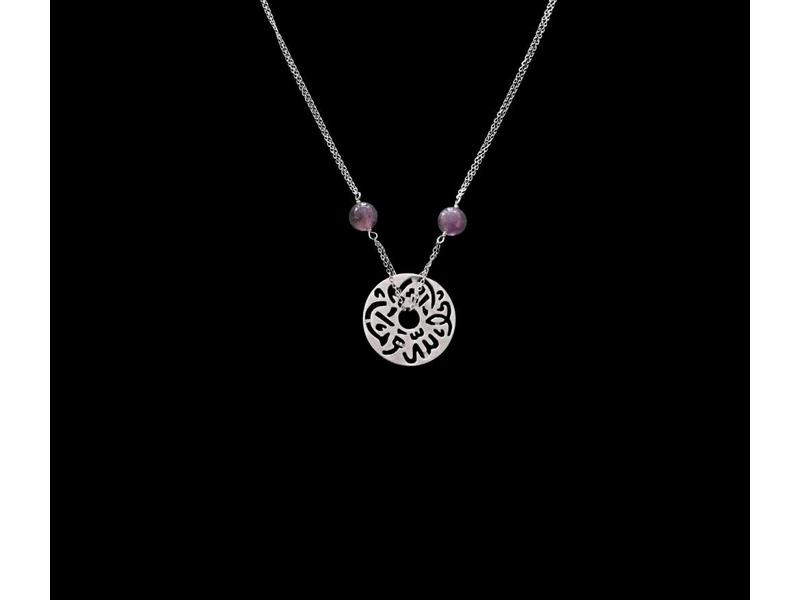 DOUBLE CHAIN WITH STONES AND MASHA'ALLAH DISC