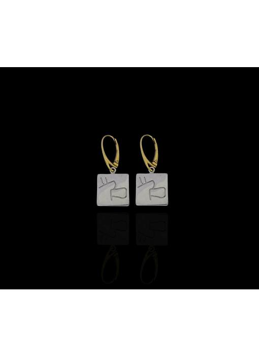 NABATEAN SALAM EARRINGS WITH GP HOOK