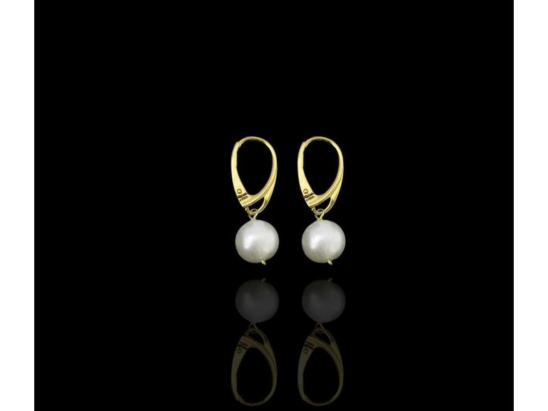 SILVER GOLD PLATED FRENCH HOOK EARRINGS WITH GEMSTONE DROP