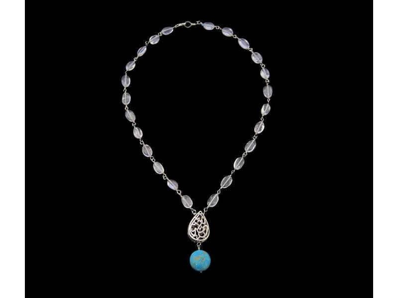 ALMOND NIMA NECKLACE WITH DROP STONE