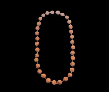 COPPER MEDIUM BEAD NECKLACE ONE ROW LONG