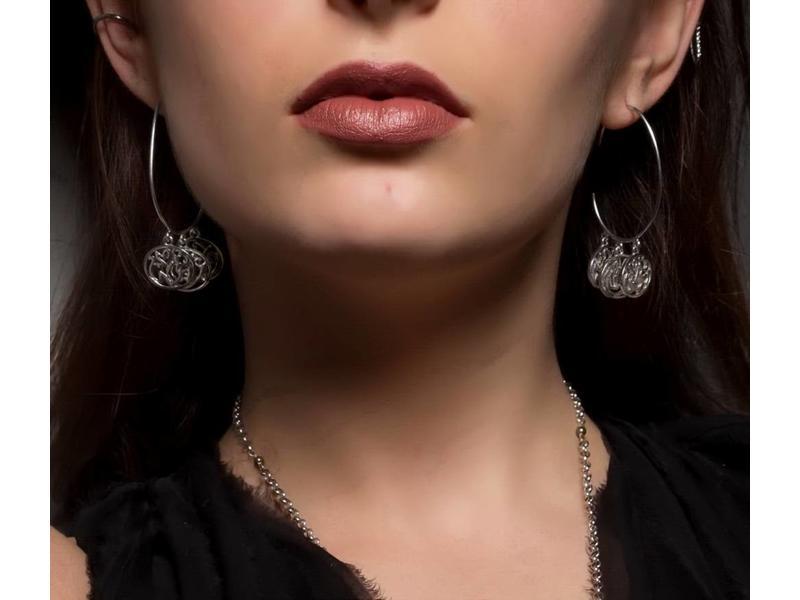 HOOP EARRINGS WITH FALLAH KHEIR HAFETH
