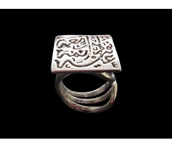 NIMA AFIA DAIMA SILVER  RING WITH TRIPLE BAND