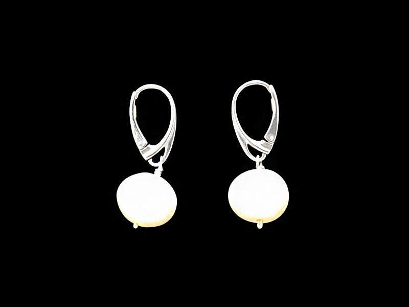 LARGE PEARL DROP EARRINGS WITH SILVER FRENCH HOOK