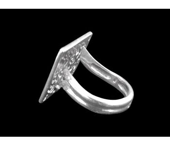 NIMAH AFIA SILVER RING TWISTED BAND