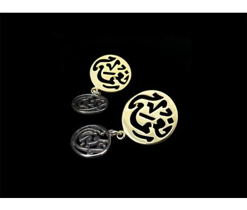 NIMA AFIA 2-TONE- EARRING WITH POST