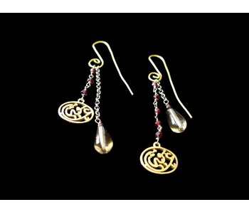 S CURVE EARRINGS GP WITH GP NIMAH AFIA AND GEMSTONES LONG