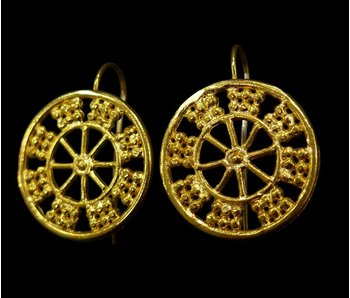 WHEEL OF FORTUNE ASSYRIAN EARRINGS