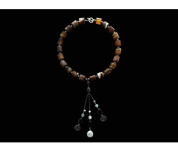 LARGE STONE NECKLACE WITH NIMA AFIA TASSEL