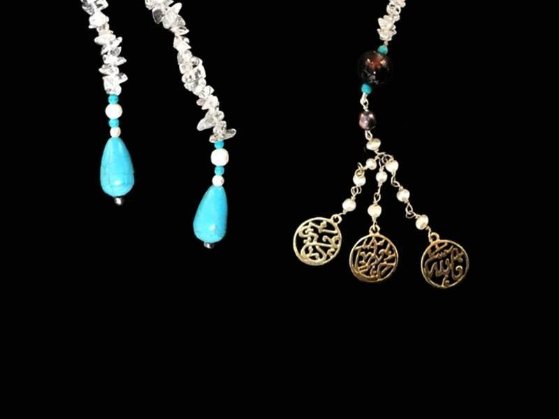FALLAH KHEIR HAFETH STONE TIE NECKLACE