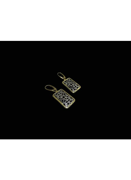GRANADA EARRINGS WITH GOLD BORDER