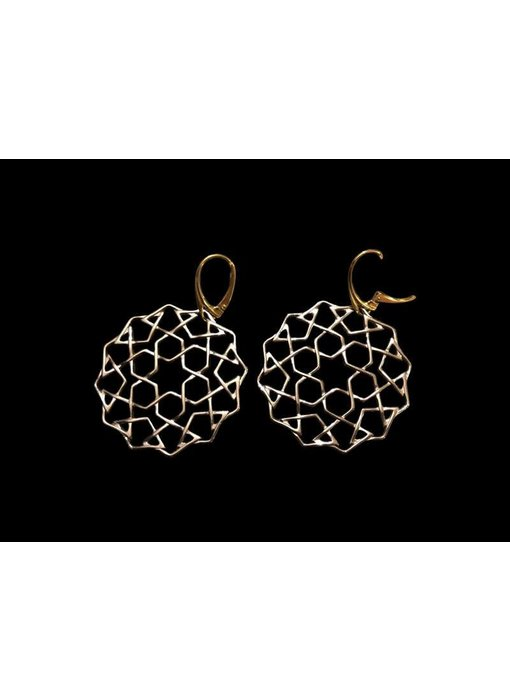 LARGE CORDOBA EARRINGS TWO TONE