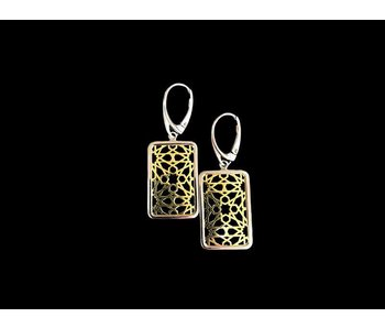 GRANADA EARRINGS WITH SILVER BORDER