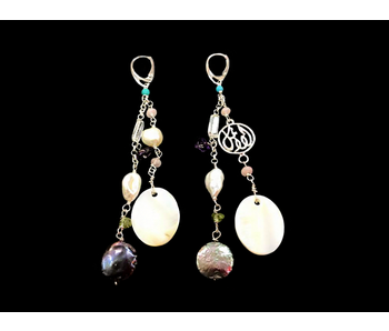 SHOWER EARRINGS GEMSTONES AND WORD