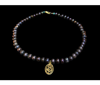GREY PEARL NECKLACE WITH SALAM WORD