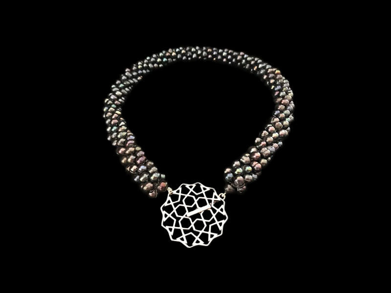 PEARL CROCHET NECKLACE WITH CORDOBA SILVER CLASP