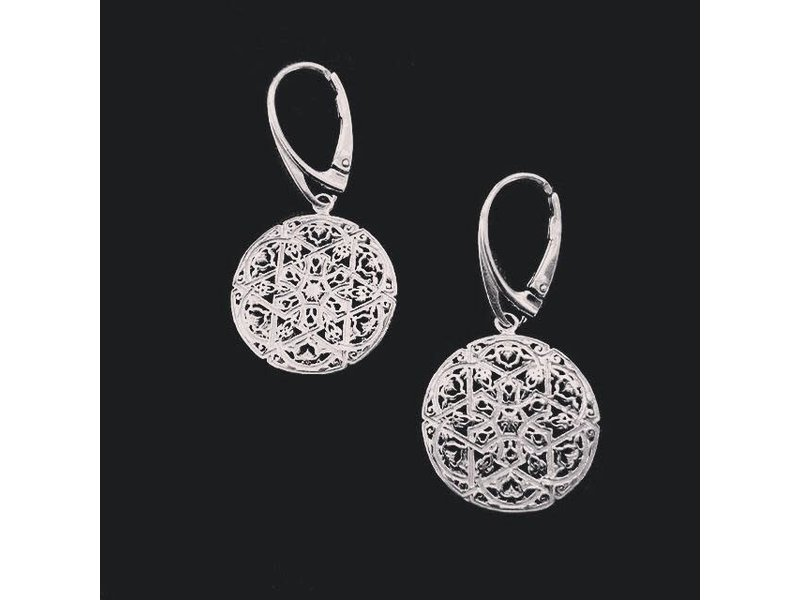 SILVER ANDALUCIAN EARRINGS WITH FRENCH HOOK