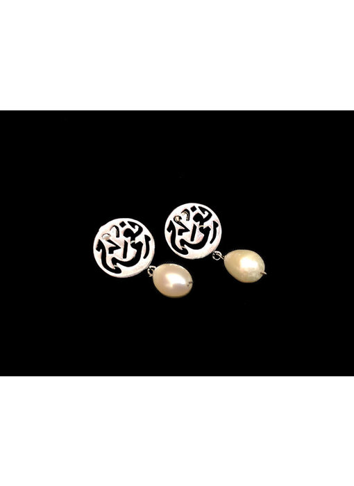 NIMA EARRINGS WITH POST AND DROP STONE