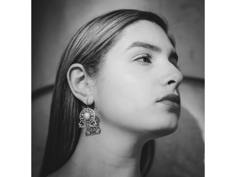 PEARL BYZANTINE EARRING