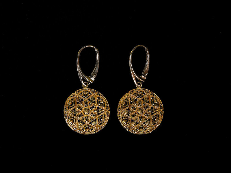 ANDALUCIAN EARRINGS GP WITH SILVER FRENCH HOOK