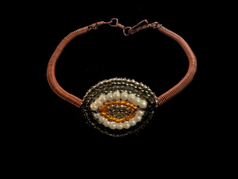 COPPER EYE BRACELET WITH COPPER BAND