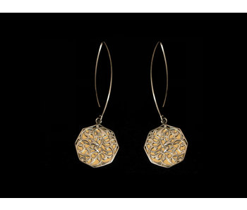 OVAL HOOK EARRINGS WITH CAIRO SILVER MOTIF
