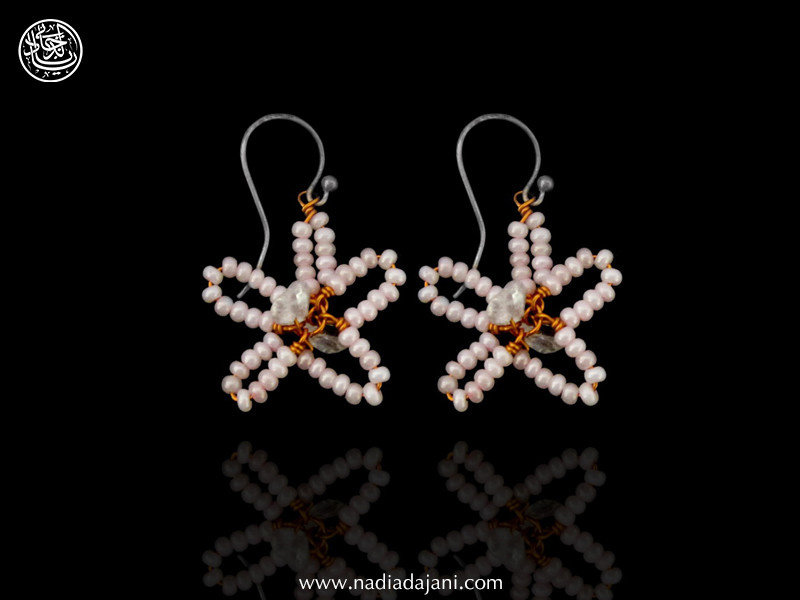 BEAD FLOWER EARRING