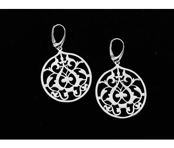 ROUND ARABESQUE EARRINGS WITH FRENCH HOOK