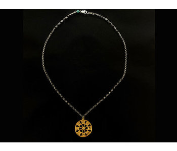 CHAIN NECKLACE WITH WHEEL OF FORTUNE