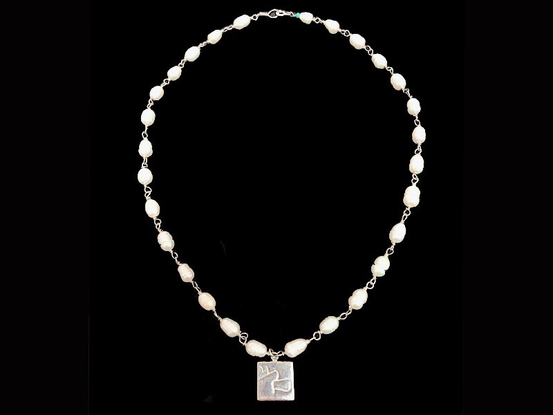 STONE NECKLACE WITH NABATEAN PENDANT