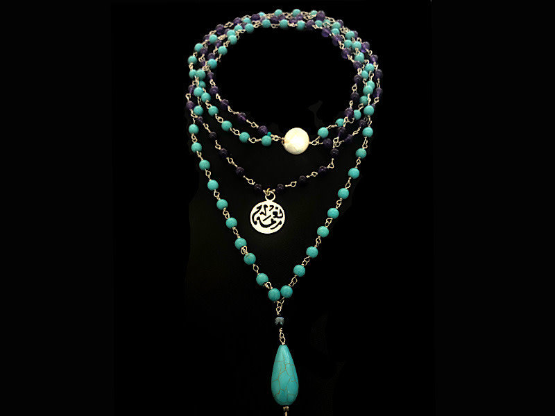 TWO ROW NECKLACE WITH NIMAH