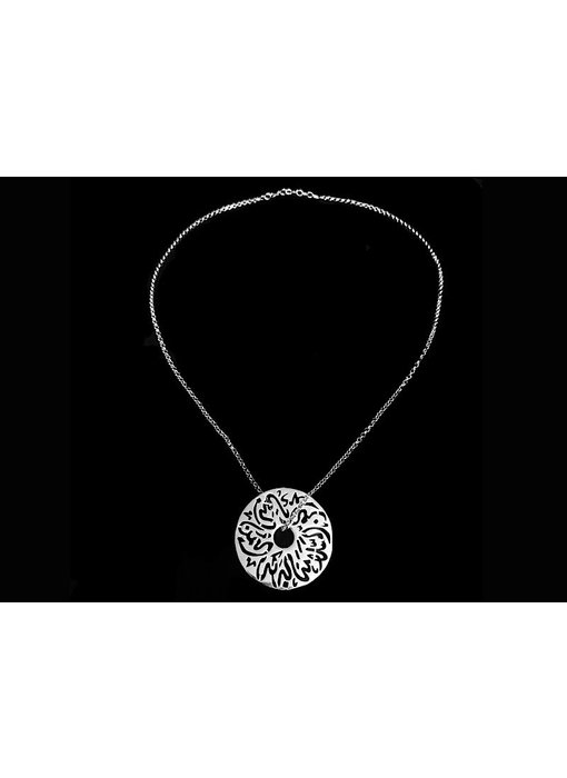 CHAIN NECKLACE WITH MEDIUM DISC