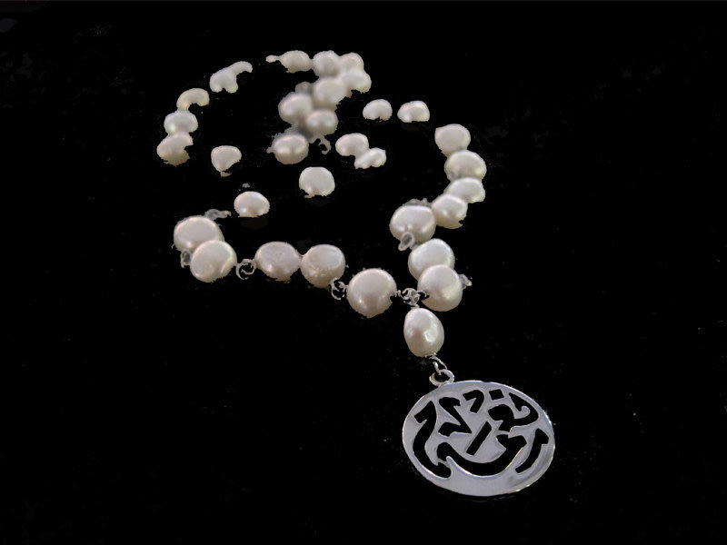 NECKLACE WITH ROUND NIMA PENDANT