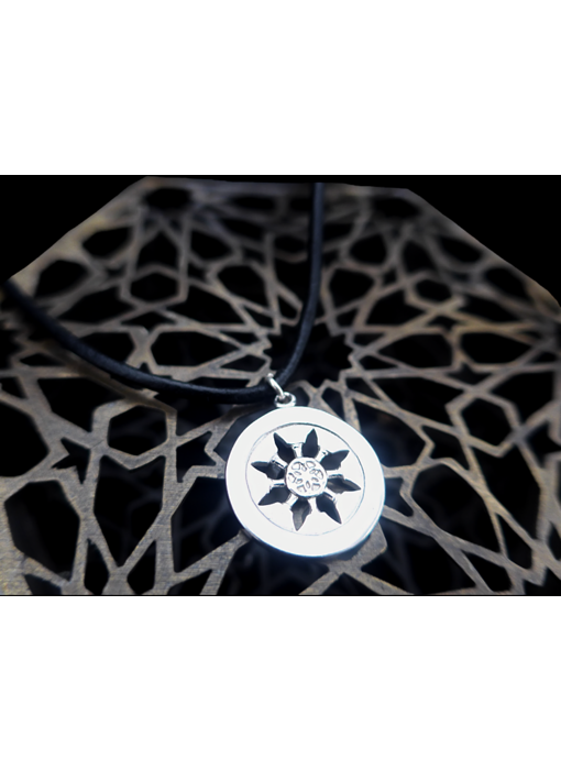 LEATHER NECKLACE WITH ROZANA