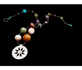 MIXED GEMSTONE NECKLACE WITH ROZANA