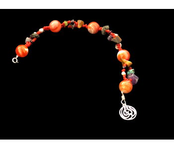 AGATE & BEDOUIN BEAD BRACELET WITH SALAM WORD