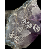 3 WORD SHOWER EARRINGS WITH CHAINS