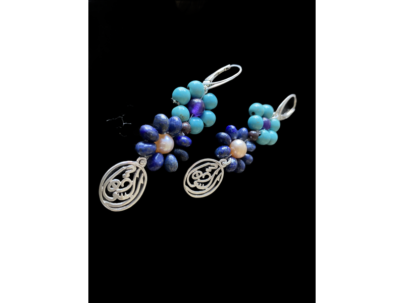 2 FLOWER EARRING WITH SALAM WORD